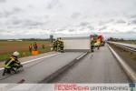 A8 - Umgestürzter Anhänger - Sturmtief Niklas