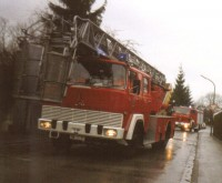Erste Drehleiter der Feuerwehr Unterhaching (Bj. 1972)